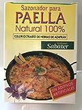 Sazonador Paella Natural 100% Paellero Sin Aditivos Artificiales - Solo Productos Naturales Extracto Azafran Puro - 3 x 2 g