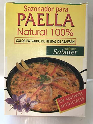Condimento per paella naturale al 100% senza additivi artificiali - Solo prodotti naturali Estratto di zafferano puro - 3 x 2 g