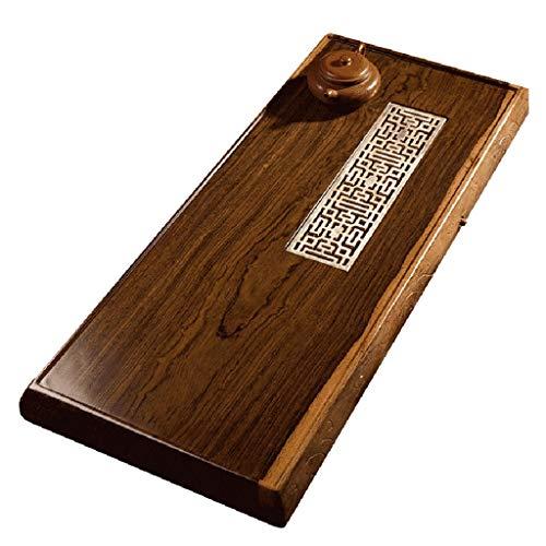 Lowest Price! Solid Wood Tea Tray Simple Chinese Kung Fu Tea Tray Japanese Tea Making Tea Set Ebony ...