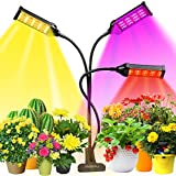 LED Grow Light Full Spectrum, 153 LEDs Plant Light with 7 Color Modes, Greenhouse Grow Lights for Indoor Plants, With 3, 6, 12 H Timers and Auto Switch, Growing Lamps for Seedlings and Succulent