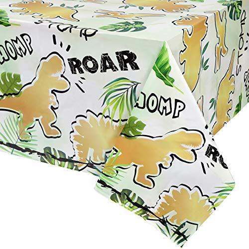 Mantel Fiesta Dinosaurio - 1 Piezas 137 x 274cm Suministros de Fiesta de Dinosaurios para Niños Decoraciones de Fiestas de Cumpleaños Mantel Rectangular Desechable de Plástico