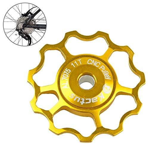 HQ's perfect store Équipement de vélo Dérailleur arrière Jim Aluminium Shimano SRAM 11T Diam Diamètre Intérieur: 5mm ou 6mm Taille: 11T Sûr et Pratique (Couleur : Or)