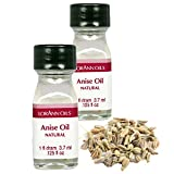 LorAnn Super Strength Anise Oil, Natural Flavor, 1 dram bottle (.0125 fl oz 3.7 ml) - 2 pack