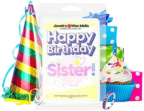 Happy Birthday Sister Jewelry Manufacturer OFFicial shop Wax Melt Sibling Sis Ring sold out Tart