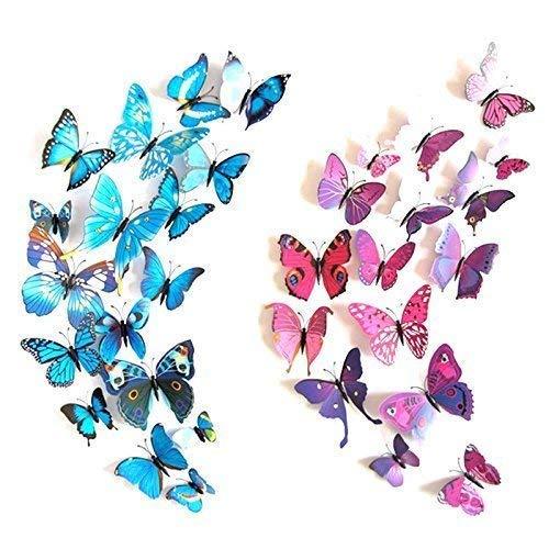 Schmetterlinge, magnetische Aufkleber, 12 Stück, abnehmbares Wandbild, Dekoration für Zuhause, DIY, Kühlschrankmagnet