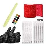 Agujas de tatuaje,Stick Kit, agujas de tatuaje desechables, guantes, ojales, incluye 1RL / 3RL / 5RL / 7RL / 9RL, accesorios para herramientas de tatuaje