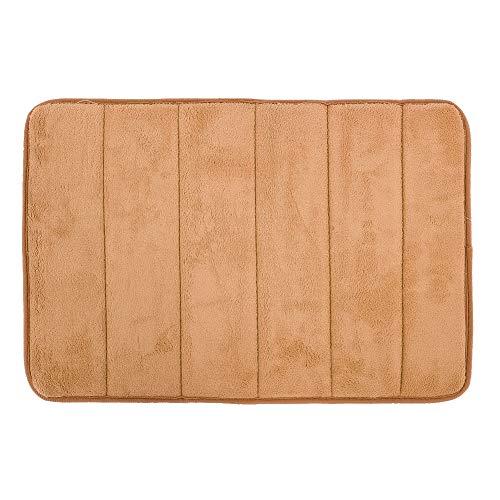 Bodenkissen Soft Reelable Gut gefertigte Fußmatten Schnelltrocknen für Haushalt für Badezimmer(Khaki)