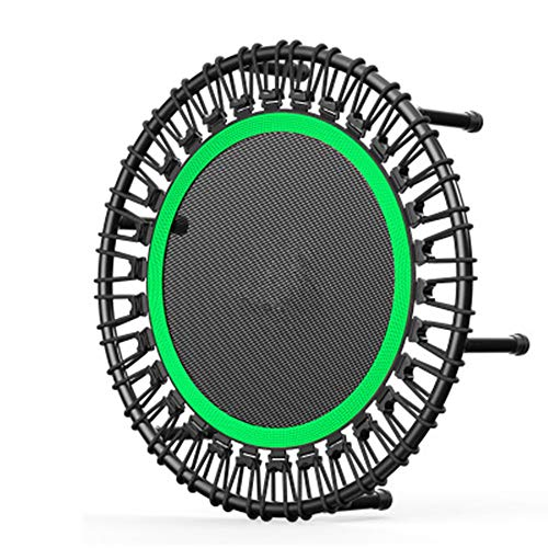 N/AA Indoor and outdoor fitness trampoline, fitness round silent trampoline, adult children trampoline, gym dedicated aerobic exercise training equipment, can withstand 250kg (32 inches) (green)