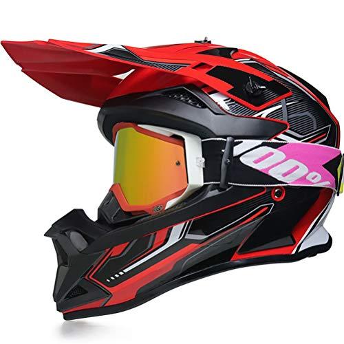 Casque de Moto pour Enfant Motocross Cross Off-Road Noir Mat ATV Quad Blanc XS