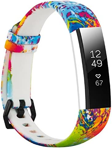 Replacement Bands Compatible with Fitbit Alta and Fitbit Alta HR Floral Wristbands Strap for product image