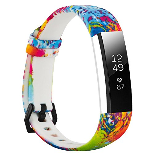Replacement Bands Compatible with Fitbit Alta and Fitbit Alta HR, Floral Wristbands Strap for Women&Men