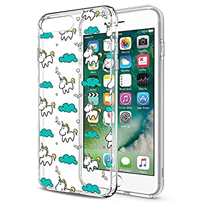 Eouine Funda para iPhone 7/8 / SE 2020, Cárcasa Silicona 3D Transparente con Dibujos Diseño [Antigolpes] Case Cover Protector Fundas para Movil para iPhone 7-4,7 Pulgadas (Unicornio)