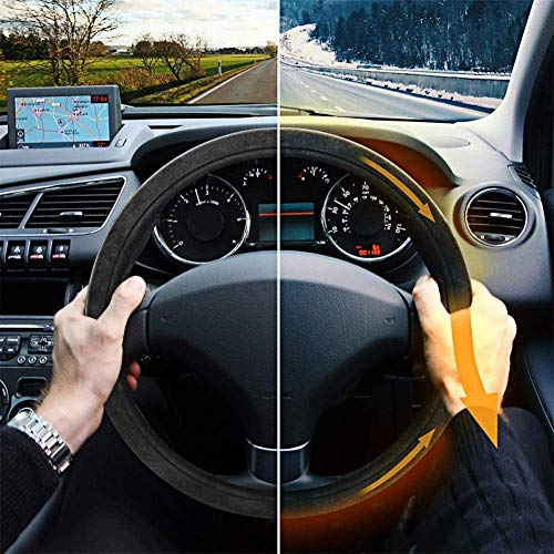 Black Kimpex 950491 Heated Steering Wheel Cover