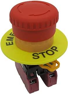 TWTADE / 22mm 2 NC Red Mushroom Latching Emergency Stop Push Button Switch 10A 600V (Warranty 3 years) YW1B-V4E02R