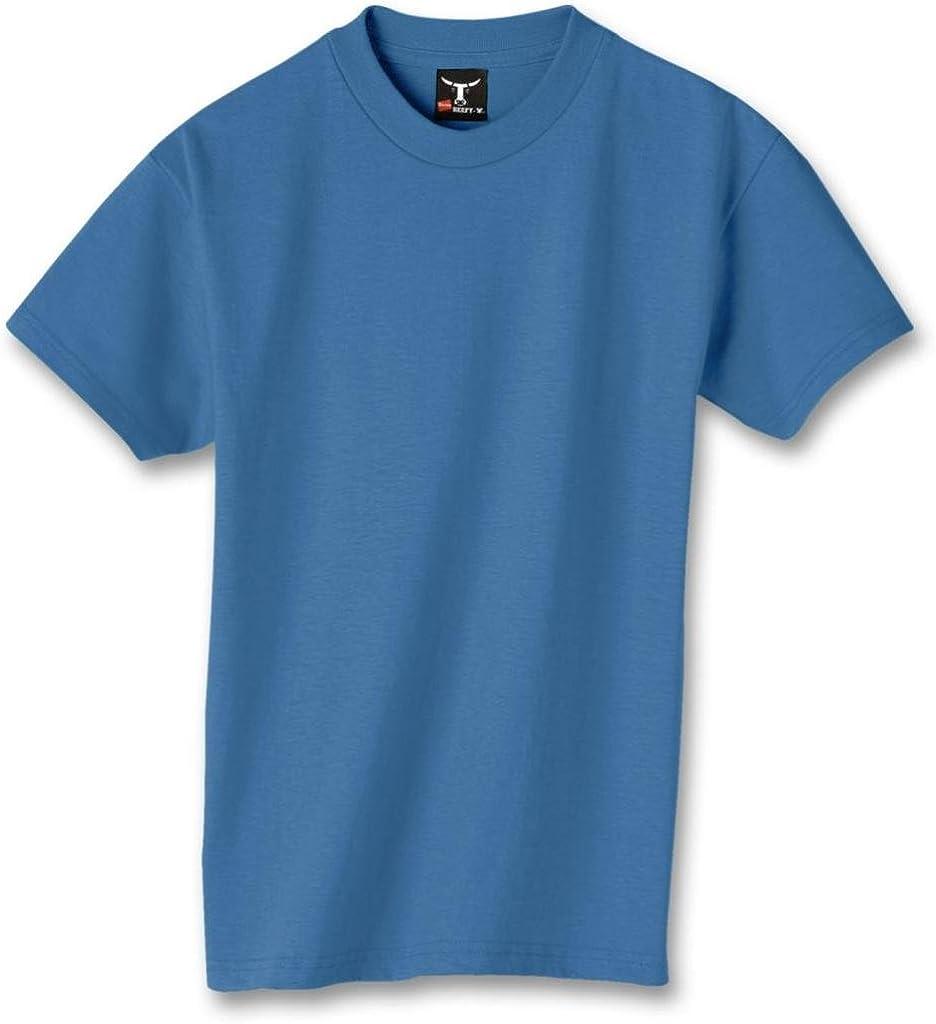 Hanes Kids' Beefy 6.1 oz T-Shirt, Light Blue, S