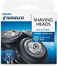 SH50 Replacement Head For Norelco Series 5000, AquaTouch,MultiPrecision blades ,3 Shaving heads per packaging Replaces HQ8...