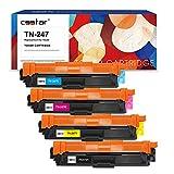 CSSTAR Compatible Cartuchos de Tóner Reemplazo para Brother TN247 TN243 para HL-L3210CW HL-L3230CDW HL-L3270CDW MFC-L3750CDW MFC-L3770CDW DCP-L3510CDW MFC-L3710CW Impresora Negro Cian Magenta Amarillo