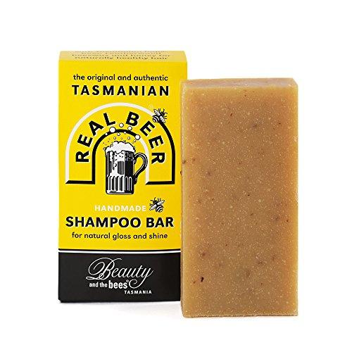 Belleza y las abejas Real cerveza barra de champú de Tasmania Australia 100% natural–No botellas de plástico