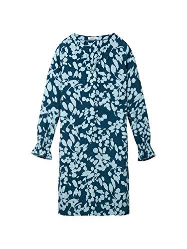 Sandwich Damen Kleid mit Blumenprint und Trompetenärmeln