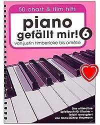 Justin Timberlake jusqu\'à Amélie Carnet de jeu pour piano avec pince colorée en forme de cœur