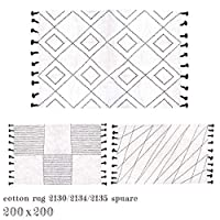 ラグ ア デペシュ a depeche コットンラグタッセルスクエア cotton rug tassel square 200x200cm カーペット 絨毯 マット 2134