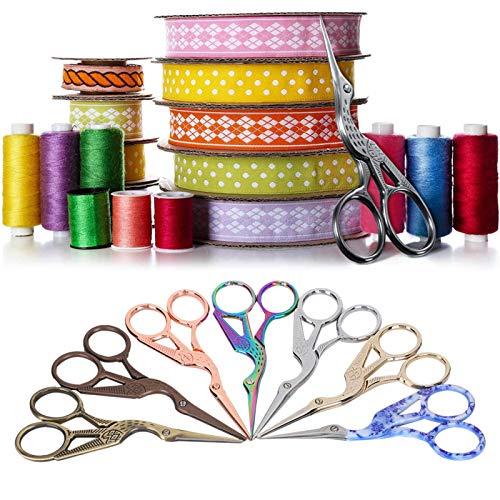 Dressmaker Shears Scissors, Crane Scissors, Craft Scissors Stork Bird Scissors for Embroidery Art Work Cross-Stitch