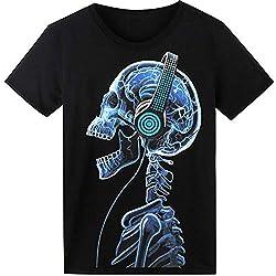 Glow In The Dark Headphone Skull T-Shirt