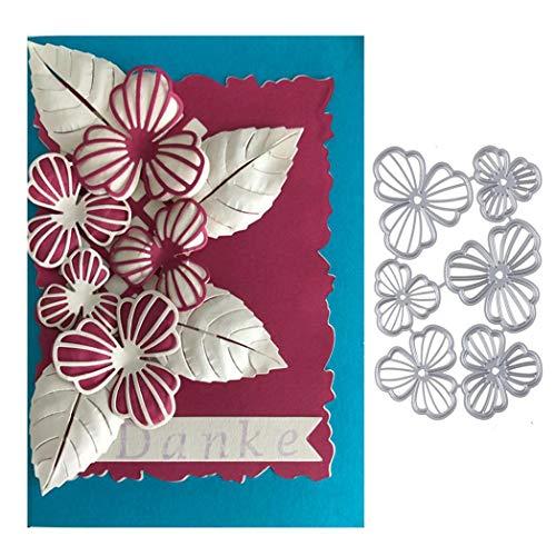KimcHisxXv - Plantilla para troqueladora, diseño de Flor, Metal, para Scrapbooking, Papel fotográfico, Tarjetas, artesanía, Regalo de cumpleaños, Color Plateado