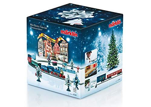 Märklin 81845 – Weihnachts-Startpackung, Modelleisenbahn mit Lokomotive und Wagen, Spur Z