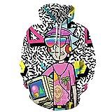Nenyou Sudadera con capucha con estampado 3D para hombre, de Rick and Morty, de manga larga, con capucha, con bolsillo grande, con capucha intercambiable