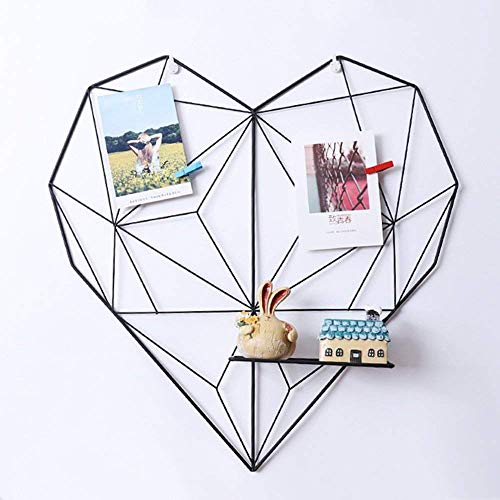 ShouYu DIY Grid Panel Foto Wand,Ins Mesh Wand,Multifunktion Gitterwand Deko,Memo Brett Organisator Regale (50.5 * 50cm,Schwarz)