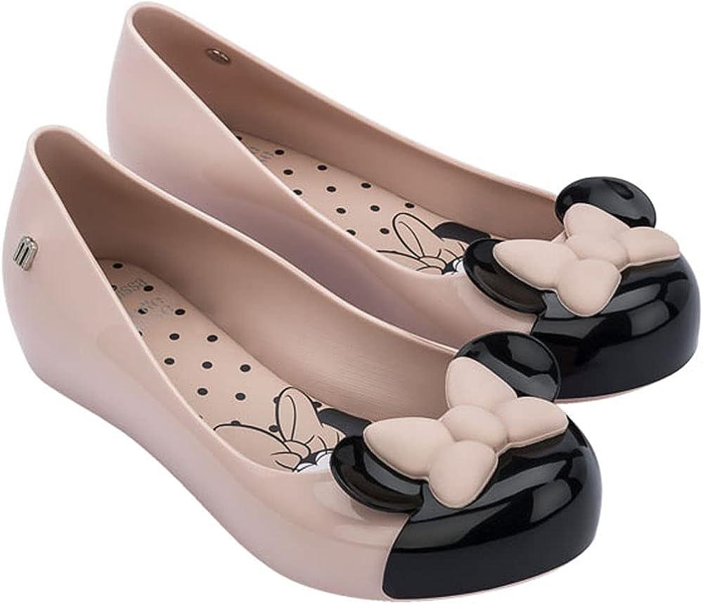 Melissa - Kids Mini Mickey & Friends Flats, Size: 11 M US Little Kid, Color: Pink/Black