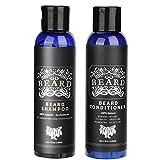 Kit de cuidado de barba para hombres Juego de lavado de cara Champú para bigote de 120 ml + Acondicionador de barba de 120 ml para uso en el salón y el hogar