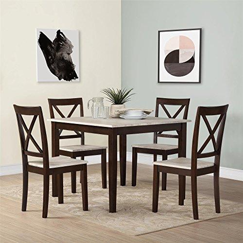 Dorel Living Sunnybrook 5-Piece Dining Set, Espresso