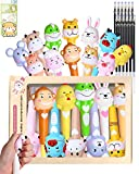 Cute Animal Decompression Gel Ink Pens 12 PCS/Box with 12pcs Bullet-Shaped Black Ink Refills Squishys Slow Rising Kawaii Chinese Zodiac Animals Squeeze Toys Pens for Kids Stationery Fancy Gift