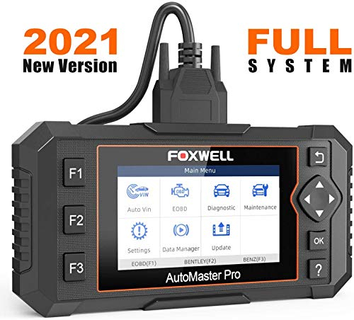 FOXWELL NT624 Elite OBD2 Scanner All Systems Car Diagnostic Scan Tool with Oil Light & EPB Reset Service, Check Engine ABS SRS Transmission EPS HVAC Headlamp Code Reader