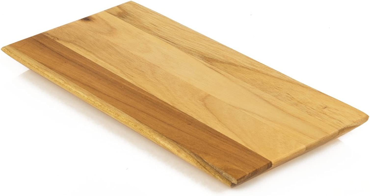 Terra Teak 8 Inch Wooden Serving Platter For Cheese And Charcuterie Small Wood Tray