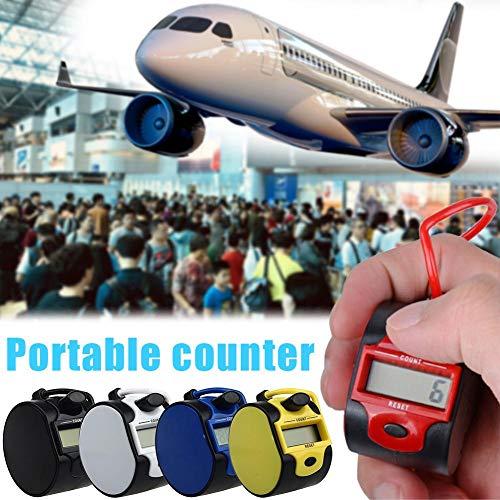 Getherad Mechanische hoeveelheidsmeter, elektronische teller, kleine draagbare digitale handteller voor mensen, met handmatig digitaal display Landmark