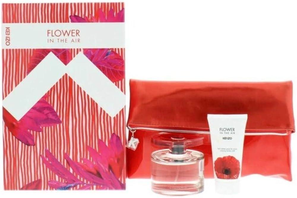 Kenzo flower in the air  piu` crema pe ril corpo, set per donna,  150 ml 10005480