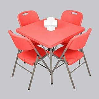 N&O Rénovation Maison Tables 5 Pc Chaise Pliante Ensemble Salle À Manger Invité Salle De Jeux Cuisine Multi Usage Intérieu...