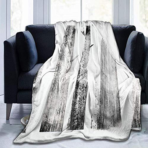 Manta personalizada con fondo de bosque, tinta abstracta simple, suave y cómoda de felpa para sofá, dormitorio, viajes, manta esponjosa de 101 x 122 cm