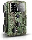 Caméra de Chasse 16MP 1080P FHD Caméra de Surveillance, 0,2 Sec. Temps de réponse,Caméra de Jeu Nocturne Infrarouge, 3PIR capteurs 120° 20m, 40 LEDs Infrarouges piège Photographique Imperméable