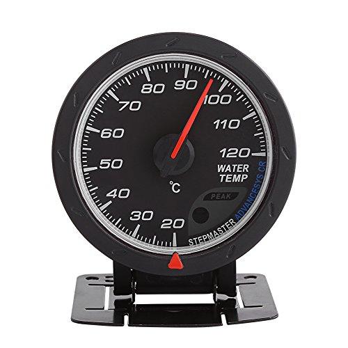 Medidor de temperatura del agua Aramox apto para autos de carreras, medidor de temperatura del agua LED azul digital universal medidor de rango 20-120 ℃