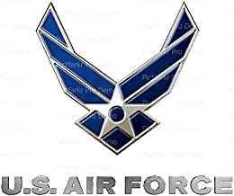 1/4 Sheet - U.S. Air Force Logo Birthday - Edible Cake/Cupcake Party Topper!!!