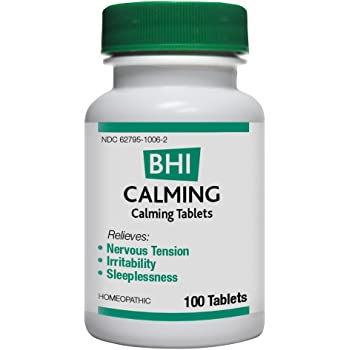 BHI Calming Relief Natural, Safe Homeopathic Relief - 100 Tablets