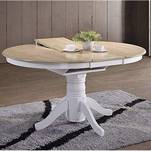 Florence Round Extended Table 92 117cm: Round Extending Dining Table: Amazon.co.uk