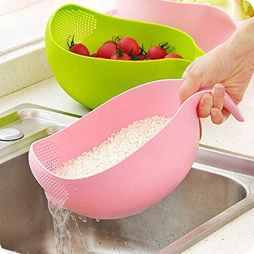 Multipurpose Rice Wash Bowl with Handle for Rice Vegetable & Fruits Pack of 1