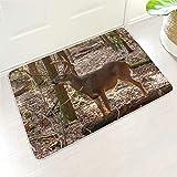 kikomia Felpudo muy suave de camuflaje, ciervo, bosque,...