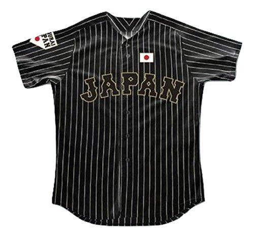 Shohei Ohtani 16 Japan Samurai Black Pinstriped Baseball Jersey Stitch (54)