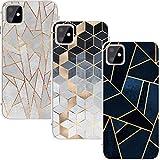 KZIOACSH 3*Coque pour iPhone 11 6.1'',TPU Silicone Souple [Anti Choc][Anti Rayures],Transparent Case Ultra Mince Gel Doux Soft...